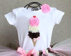 Ice Cream shirt Birthday Shirt Birthday bodysuit by HAPPYBUBKIN
