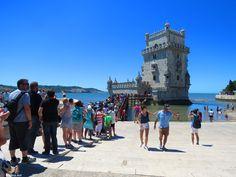 tourist lines at Belem Tower, Lisbon