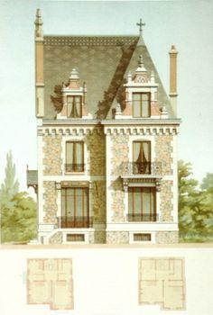 Nos biens vendre maisons normandes chaumi re colombage for Facade maison 1930