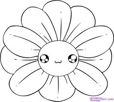 easy to draw flowers | how to draw a chibi flower step 4