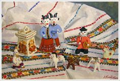 """""""Folk Toys of Kargopol"""" 1989. Kostenko Elena (Russia, 1926)"""