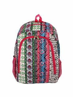$9.50 Bohemian Spirit Backpack with Fuchsia Trim