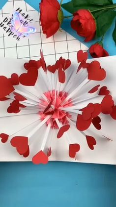 Cool Paper Crafts, Paper Flowers Craft, Paper Crafts Origami, Diy Crafts For Girls, Diy Crafts Hacks, Diy Crafts Videos, Instruções Origami, Diy Origami Cards, 3d Origami Heart