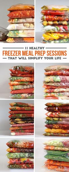 11 Healthy Freezer Meal Prep Plans- pair with quinoa, brown rice, or salad.
