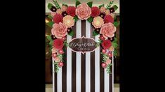 Decoración de fiestas con flores de papel. Photocall, mesa buffé, arco d...