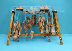 Vintage Tische - Tisch mit Schuhleisten