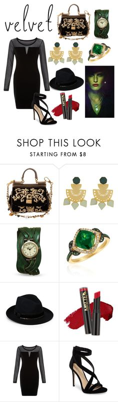 """Zelena"" by alice-hale-cullen ❤ liked on Polyvore featuring Dolce&Gabbana, LE VIAN, Once Upon a Time, Ferruccio Vecchi, L.A. Girl, Blue Vanilla and Imagine by Vince Camuto"