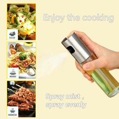 Olive Oil Sprayer, Food-grade Glass Oil Spray Bottle Oil Misters Vinegar Bottle Oil Dispenser for Cooking, Salad, BBQ, Kitchen Baking, Roasting, 3.42-ounce Capacity Olive Oil Sprayer, Low Fat Cooking, Mist Spray, Kitchen Supplies, Food Grade, Spray Bottle, Cool Kitchens, Vinegar, Bbq
