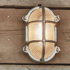 Oval brass bulkhead outdoor light lighting mirrors shop by vintage industrial oval heavy bulkhead retro wall lightflush mount aloadofball Choice Image