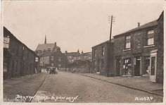 Postcard-Edgworth-near-Bolton-Lancashire-early-view-of-Bolton-Road-RP Bolton Lancashire, Local History, Small Towns, Worlds Largest, The Past, England, Street View, Architecture, Travel