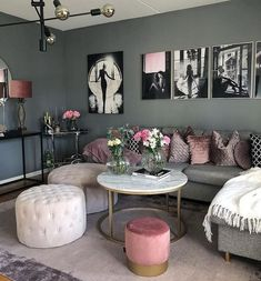 The Truth About Modern Chic Living Room Apartments Interior Design - apikhom . - Home Decor Living Room Decor Cozy, Shabby Chic Living Room, Living Room Grey, Decor Room, Home Living Room, Apartment Living, Interior Design Living Room, Living Room Designs, Chic Apartment Decor