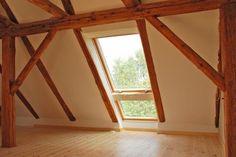 Dachbodenausbau, fenster bis auf den Boden.
