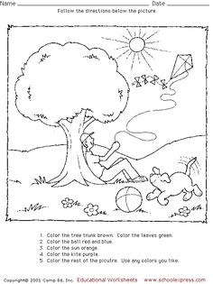 Free Worksheets And Activity Suggestions To Help Children