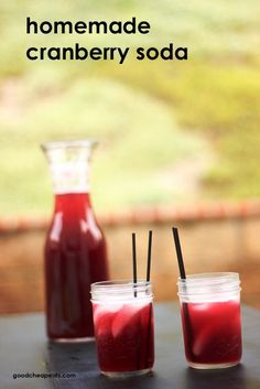 Homemade Cranberry Soda | Good Cheap Eats - yes, you can make your own soda. Use honey syrup (recipe in link) and fruit juice and club soda. Yummy without all the junk.
