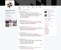 Twitter page overview.
