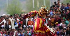 The religious mask dances are symbolic and have a common theme to destroy or trample the evil spirits.