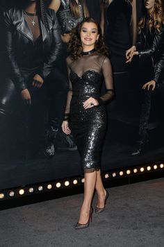 Hailee Steinfeld sexy black illusion see through dress with heels Hailee Steinfeld, Celebrity Singers, Celebrity Style, See Through Dress, Mode Chic, Star Girl, Hot Brunette, Belleza Natural, Woman Crush