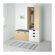 IKEA US - Furniture and Home Furnishings - IKEA US – Furniture and Home Furnishings STUVA Storage combination with bench, white, birch white/birch At Home Furniture Store, Modern Home Furniture, Affordable Furniture, Ikea Bedroom Furniture, Armoire Ikea, Painted Drawers, Ikea Home, Baby Room Design, Home Furnishings