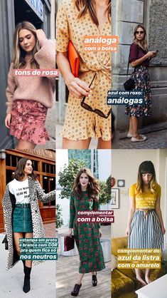 ideias para combinar estampa + cor! Urban Fashion, Love Fashion, Womens Fashion, Fashion Design, Trendy Outfits, Fashion Outfits, Fashion Trends, Preppy Style, My Style
