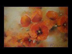 Oil painting Alla prima. Orange poppy. Оранжевый мак   Живопись маслом - YouTube