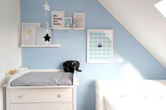 Babyzimmer Bilder Collage Wand Elefant Mobilee Baby's Only Ikea Hemnes Wickelkommode Koeka