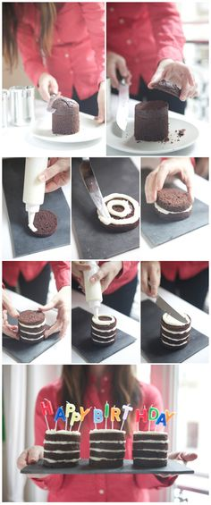 Who needs a cake pan? Mini cakes from cans is such an adorable, genius idea. via ohhappyday.com/...