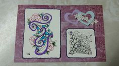 Zentangle card for a friend