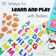 10 activities to learn and play with stickers!