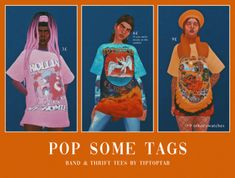 The Sims 4 Pop Some Tags£ by tiptoptab Sims Four, Sims 4 Mm Cc, My Sims, Sims 4 Mods Clothes, Sims 4 Clothing, Sims 4 Collections, Pop Some Tags, Sims Stories, Sims 4 Characters