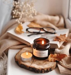 Photo Candles, Diy Candles, Scented Candles, Candle Jars, Cozy Aesthetic, Autumn Aesthetic, Autumn Photography, Book Photography, Product Photography