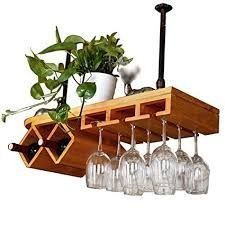 Diy Wine Rack Designs With The Unique And Trendy Styles - Diyever Unique Wine Racks, Wood Wine Racks, Wine Glass Rack, Vin Palette, Wine Rack Inspiration, Wine Rack Design, Pallet Wine, Small Wood Projects, Wine Cabinets