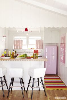 TO TRY: A pink refrigerator!