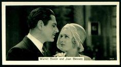 Cigarette Card - Warner Baxter & Joan Bennett | Flickr - Photo Sharing!