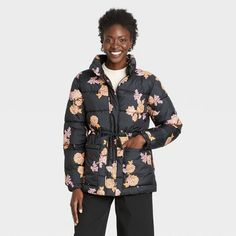 Women's Puffer Jacket - Who What Wear™ : Target Women's Puffer, Puffer Jackets, Who What Wear, Wearing Black, Men Casual, Target, Long Sleeve, Model, Winter Coats