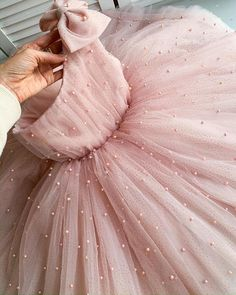 Princess dress for girls, Powder tulle dress for girls, birthday dress - Pink Flower Girl Dresses, Kids Dress Wear, Little Girl Dresses, Girls Dresses, Baby Girl Party Dresses, Baby Tulle Dress, Baby Gown, Dressy Dresses, Dress Girl