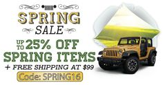 Nice Up To 25% Off Spring Items + Free Shipping At $99! All Things Jeep