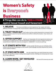 6 Things Men Can Do to Help Prevent Violence Against Women —  #Infographic -----http://ht.ly/dF88M