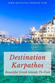 Greece has dozens of beautiful islands for its travellers to visit. Karpathos island is part of the path less travelled and definitely an island you should consider for your Greek itinerary. Experience Greece like a local! Amazing Destinations, Holiday Destinations, Greece Design, Greek Islands To Visit, Mykonos Island, Karpathos, Like A Local, Thessaloniki, Archipelago