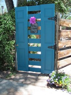 UPCYCLED garden GATE made from ONE door and LUMBER!