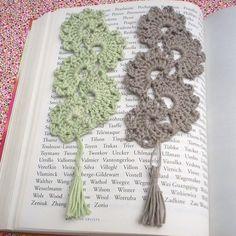 Elegant crochet bookmarks from Babancat