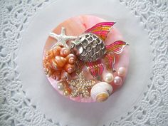Upcycled Vintage Jewelry Refrigerator Magnet by OldCrowsTreasures, $9.00