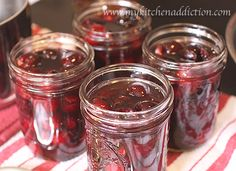 Amaretto Cherries: Pack the cherries into the hot, sterilized jars and add one tablespoon of Amaretto liqeuer to each jar of cherries.  Ladle the hot syrup into the jars, leaving 1/2 inch of headspace.  Wipe the rims of the jars, and fit with the lids and bands.  Process the jars in boiling water for 15 minutes.