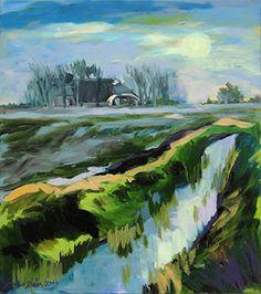Zonlicht-in-het-water-80-x-90-cm-acryl-op-doek-Antje-Sonnenschein.jpg 319×360 pixels