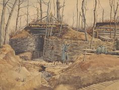 Watercolour. Europeana 1914-1918, CC BY-SA