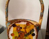 Scooby Doo Basket--Easter, Mother's Day, Christmas, ANYDAY $6.00 HeavenlyDesigns1 on etsy.com  Easter Basket, birthday, Mother's Day, gift card holder
