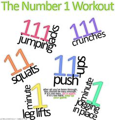 The Number 1 Workout (my god. This is going to kill me)