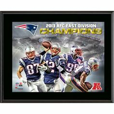 New England Patriots 2013 AFC East Champs Sublimated 10.5'' x 13'' Plaque