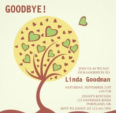 Farewell Party Invitation Templates  PsdAiIndesignWord