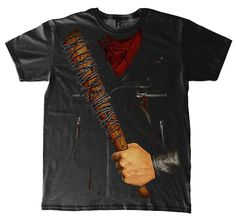The Walking Dead T-Shirt Negan Kostüm, aus Baumwolle in Schwarz The Walking Dead, Movie Shirts, Mens Tops, Clothes, Cosplay, Cotton, Halloween Costumes Uk, Deco, Outfits