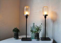 dekoideen beleuchtung diy tischlampen einweckgläser